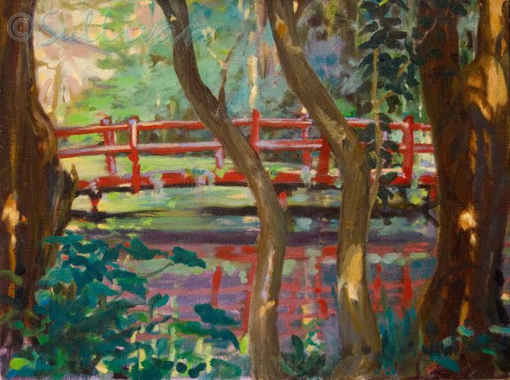 Magnolia Red Bridge  1    9x12  oil on canvas-80-800-600-80-wm-left top-25-wasserzpng